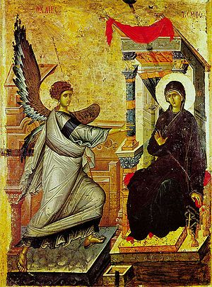 The icon of Annunciation from the Church of St...