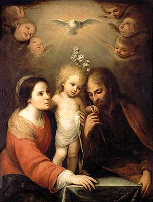 Holy Family, Mary, Joseph, and child Jesus