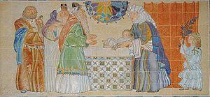 Azulejos of Presentation of Jesus in temple, i...