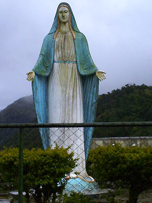 A Statue of the Virgin Mary in the Mouintain P...