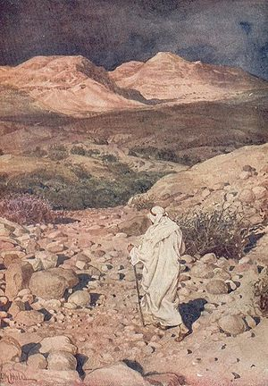 Temptation of Jesus in desert. HOLE, WILLIAM: ...