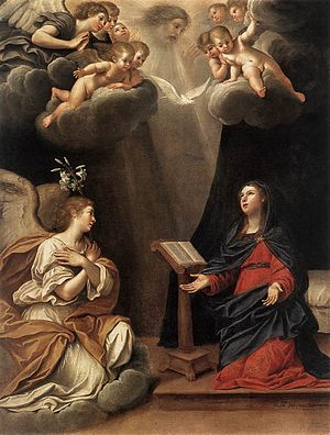 The Annunciation, by Francesco Albani.