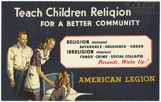 Teach children religion for a better community...
