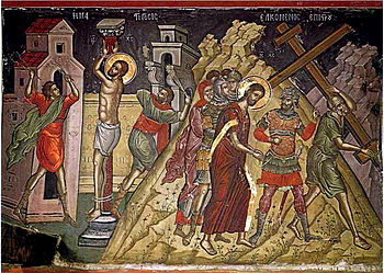 Icon of Jesus being led to Golgotha, 16th cent...