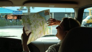 """Put that map down! I know where I'm going."""