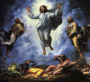 The upper part of the Transfiguration (1520) b...