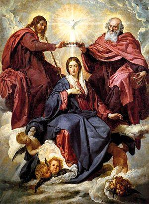 Coronación de la Virgen, óleo sobre lienzo. 17...