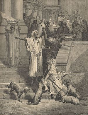 Print by Gustave Doré illustrating the parable...