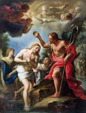 John the Baptist baptizing Christ