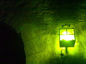 A lamp in the night