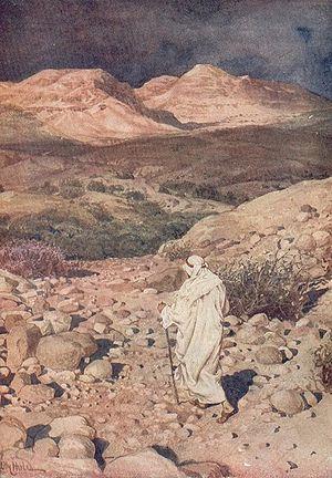 Temptation of Jesus in desert. HOLE, WILLIAM: ...