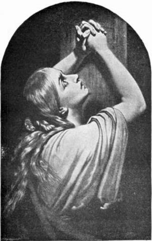 Mary Magdalene, in a dramatic 19th-century pop...