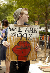 Young protester at the Occupy Wall Street prot...