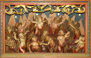 Another image of souls being purified by flame...