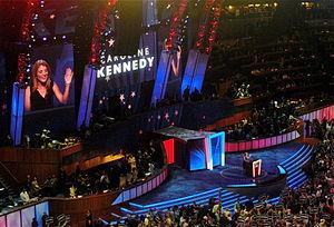English: Caroline Kennedy speaks during the fi...