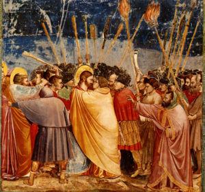 Judas küsst Jesus (Fresko in der Capella degli...
