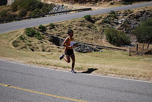 English: Marathon runner for the Feria de Pina...