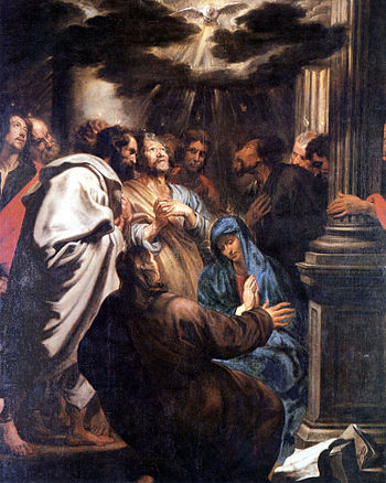 The Holy Spirit descending at Pentecost by Ant...