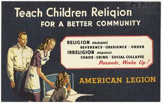Teach children religion for a better community...