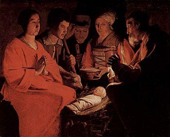 Georges de La Tour: Adoration of the shepherds...