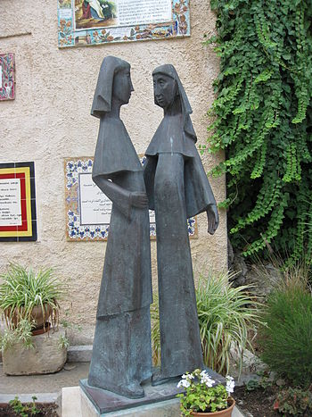 English: Statue of the Visitation in the Churc...