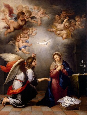 Angel Gabriel's Annunciation to Mary, by Muril...